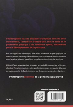 Livres Couvertures de L'haltérophilie au service de la préparation physique - Principes fondamentaux et application pratique