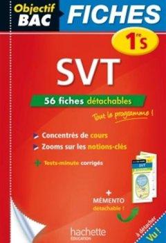 Livres Couvertures de Objectif Bac Fiches détachables SVT 1ère S