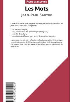 Livres Couvertures de Les Mots de Jean-Paul Sartre (Fiche de lecture): Résumé complet et analyse détaillée de l'oeuvre