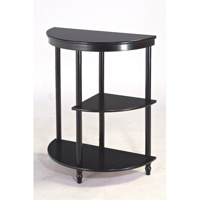 Image of Frenchi Furniture Cherry 3-Tier Crescent ,Half Moon ,Hall / Console Table/End Table (MH125-C)