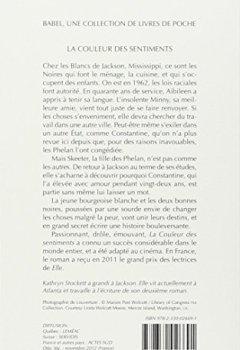 Livres Couvertures de La couleur des sentiments - Grand prix des Lectrices de Elle 2011