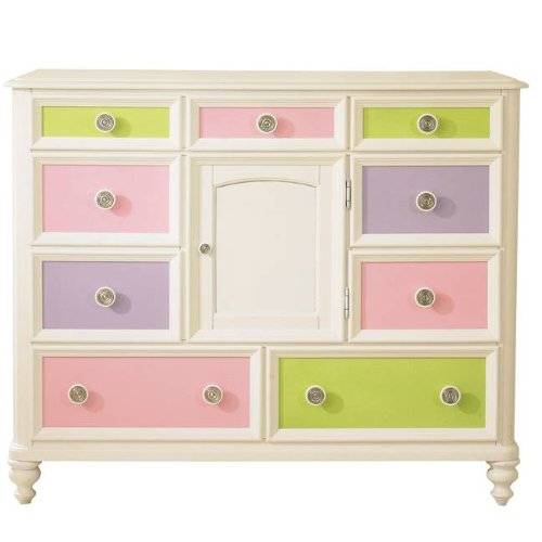 Image of Pulaski Build-A-Bear Pawsitively Yours Kids Bureau Double Dresser in Vanilla (B0048TJUG4)