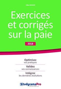 Livres Couvertures de Exercices et corrigés sur la paie 2018 2019