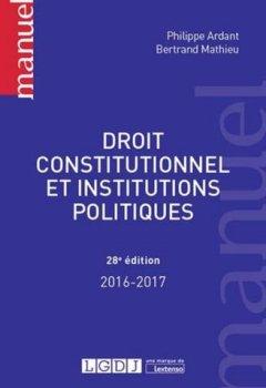 Livres Couvertures de Droit constitutionnel et Institutions politiques,