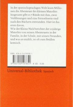 Buchdeckel von Manolito Gafotas: Spanischer Text mit deutschen Worterklärungen. B1 – B2 (GER) (Reclams Universal-Bibliothek)