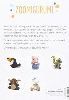 Livres Couvertures de Zoomigurumi : 15 modèles d'animaux au crochet