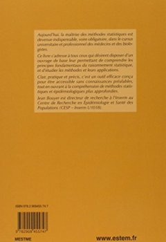Livres Couvertures de Méthodes statistiques : médecine-biologie