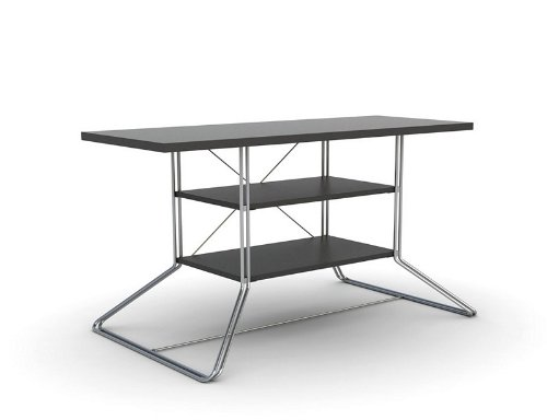 Image of Flat Panel LCD TV Stand with Double Rod Frame and Black Shelves (AZ00-49043x21150)