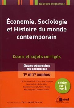 Livres Couvertures de Economie, sociologie, histoire du monde contemporain 2017-2018