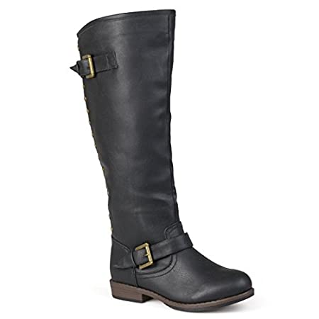 Add eye-catching detail to your style this season in these studded riding boots by Brinley Co! These boots feature faux leather uppers that rise to an asymmetrical knee-height creating an ideal style of fall boots to pair with your favorite skinny pa...