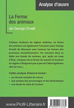 Livres Couvertures de La Ferme des animaux de George Orwell (Analyse approfondie): Approfondissez votre lecture des romans classiques et modernes avec Profil-Litteraire.fr