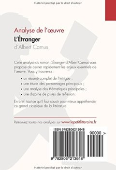 Livres Couvertures de L'Étranger d'Albert Camus (Analyse de l'oeuvre): Comprendre la littérature avec lePetitLittéraire.fr