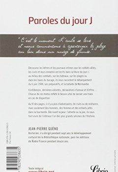 Livres Couvertures de Paroles du jour J : Lettres et carnets du Débarquement, été 1944