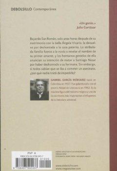 Portada del libro deCrónica de una muerte anunciada (CONTEMPORANEA)