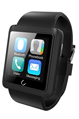 U10 Bluetooth elegante reloj cuero correa reloj de pulsera UWatch...
