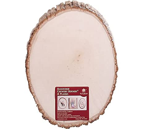 Walnut Hollow Basswood Round, Medium