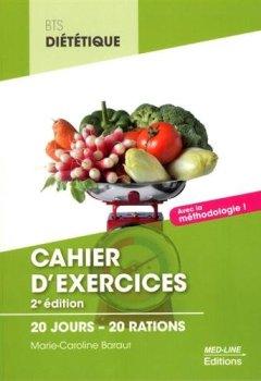 Livres Couvertures de Cahier d'exercices BTS Diététique : 20 jours - 20 rations