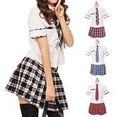 送料無料 1500円以上!リセスクールガール制服 costume481 ゴスロリ ロリータ パンク コスプレ コスチューム メイド 赤 4l
