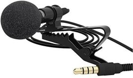 Lavalier-Lapel-Microphone-Clip-on-Omnidirectional-Condenser-Mic-for-Apple-iPhone-iPad-iPod-Touch-Samsung-Android-and-Windows-Smartphones-Film-Interviews-Voval-Video-Recording-Black