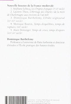 Livres Couvertures de Nouvelle histoire de la France médiévale, Volume 3 : L'Ordre seigneurial, XIe-XIIe siècle