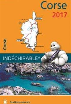Livres Couvertures de Carte Corse Michelin 2017