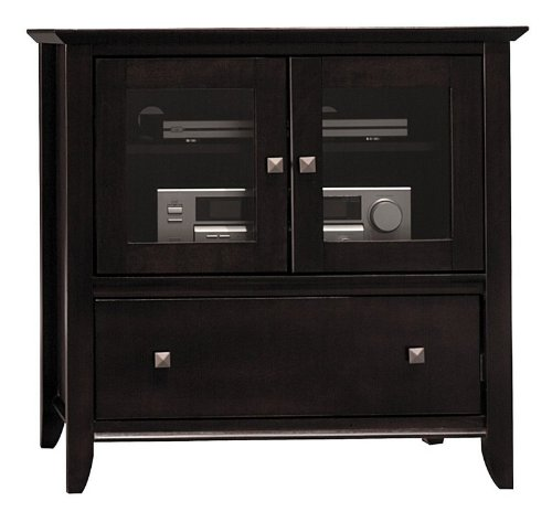 Image of Bush Sonoma Collection Mocha Cherry Finish Plasma TV Stand Video Base (AZ01-9666--1)