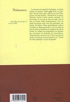 Livres Couvertures de Naissance: Roman - Prix Renaudot 2013