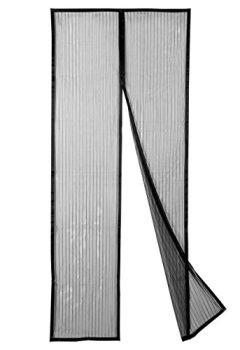 Livres Couvertures de Pomisty Magnétique Moustiquaire de Porte, Antimoustique Rideau d'Écran de la Porte, Moustiquaire Protection contre Insectes (Noir)