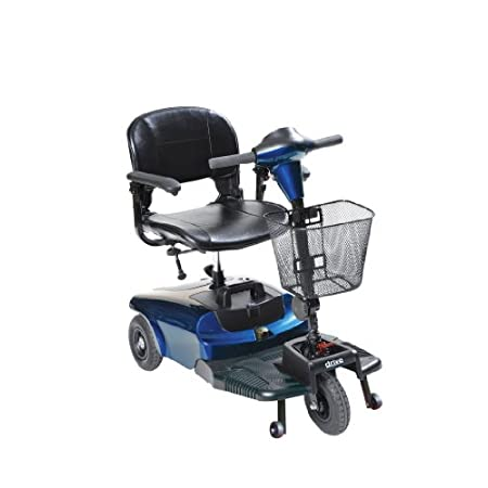 "The drive medical bobcat 3 wheel compact scooter  is an ideal scooter to help you get around either indoor or outdoor use. compact design allows for a ery small 32.2"" turning radius. conenient , compact 4 piece design makes tool free assembly and dis..."