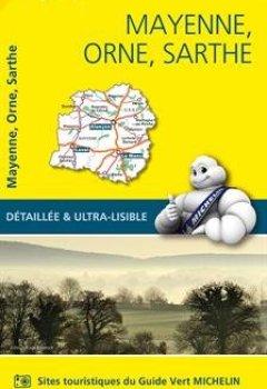 Livres Couvertures de Carte Mayenne, Orne, Sarthe Michelin