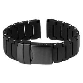 22mm-Watch-bandsstraps-Threemart-black-replacement-band-for-Pebble-TimeLG-g-w100Moto-360-2nd-watch-band