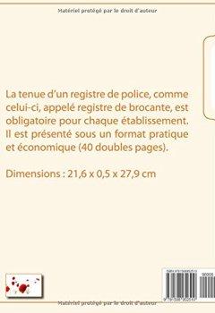 Livres Couvertures de Registre de brocante (registre de police)