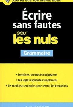 Livres Couvertures de Ecrire sans fautes pour les Nuls
