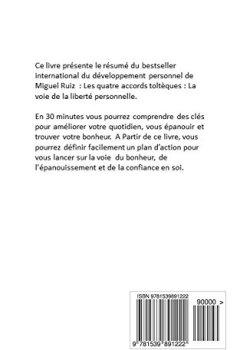 Livres Couvertures de Developpement Personnel - LES QUATRE ACCORDS TOLTEQUES  DE MIGUEL RUIS (Resume)