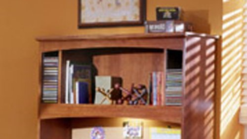 Image of City Park Kids Twin Bookcase Headboard In Cherry Finish by Standard Furniture (B009VTPF92)