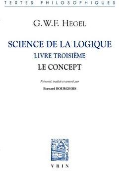 Livres Couvertures de Science de la logique : Tome 3, Le concept