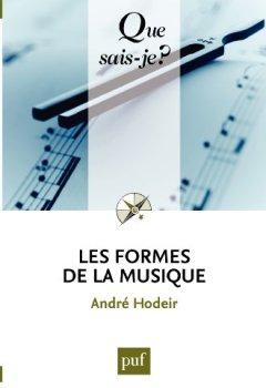 Livres Couvertures de Les formes de la musique: « Que sais-je ? » n° 478
