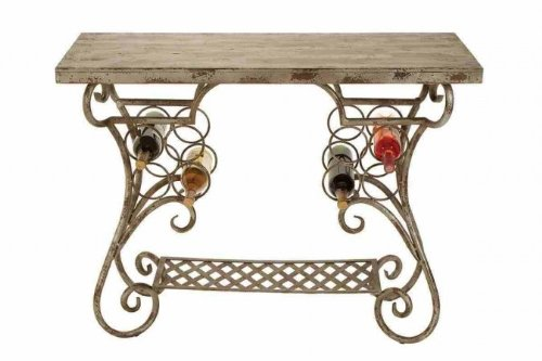 Image of Unique Metal Wood Console Table (B005ZHWD2Q)