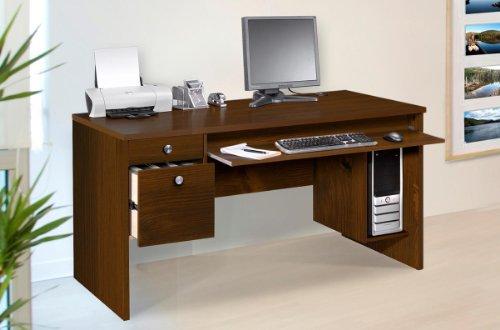 Picture of Comfortable Nexera Essentials 60-Inch Computer Desk with File Drawers - Truffle (B0050JCSJ2) (Computer Desks)