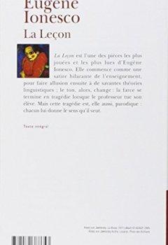Livres Couvertures de La Leçon