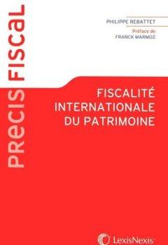 Livres Couvertures de Fiscalité internationale du patrimoine