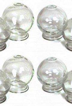 Livres Couvertures de Ventouse en verre (feu d'emboutissage) à vide massage Neuf