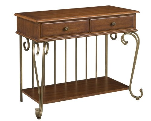 Image of Server Sideboard in Cinnamon and Brushed Antiqued Brass Finish (VF_HY-5051-61)