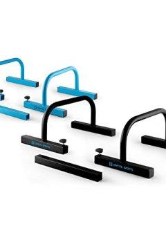 Livres Couvertures de Capital Sports Paralo - barres parallèles stables pour pompes ou lever de jambes - acier noir