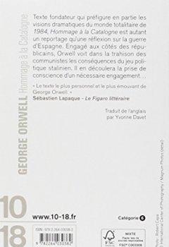 Livres Couvertures de Hommage à la Catalogne : 1936-1937