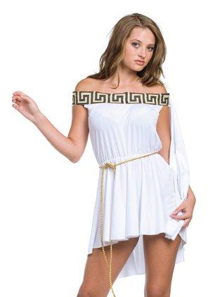 Sexy Greek Goddess Pleated Mini Dress