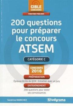 Livres Couvertures de 200 questions pour préparer le concours ATSEM