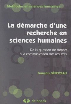 Livres Couvertures de La démarche d'une recherche en sciences humaines : De la question de départ à la communication des résultats