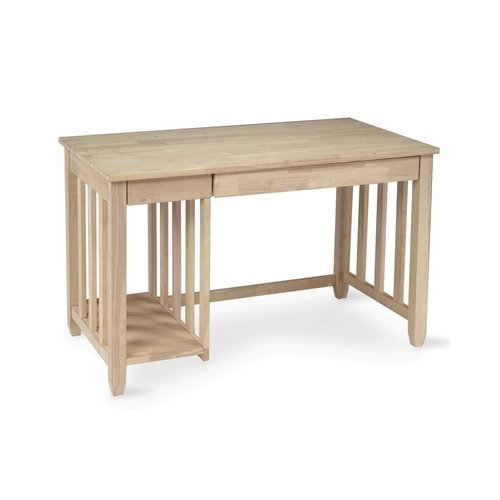 Picture of Comfortable Whitewood Mission computer desk -Home office Collection - International Concepts - OF-37 (B004OKE0DK) (Computer Desks)