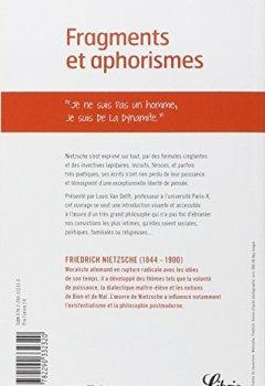 Livres Couvertures de Fragments et aphorismes